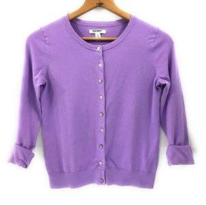 Old Navy Women's Lavender Cardigan Sweater, M